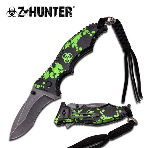 BIOHAZARD ZOMBIE SURVIVAL GEAR SPRING ASSISTED KNIFE