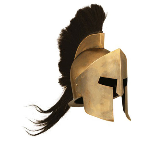 Spartan Helmet With Plume 300 Movie Replica