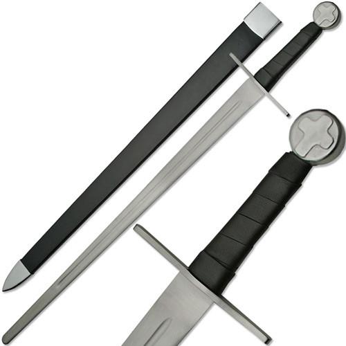 Knights Templar Full Tang Sword Blunt Battle Ready Medieval Cros