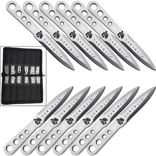 Japanese Shinobi Throwing Knife Set of 12 Pieces 440 Stainless