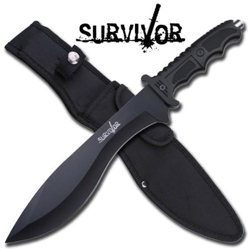 Survivor Tactical Combat Hunting Knife Kukri Blade