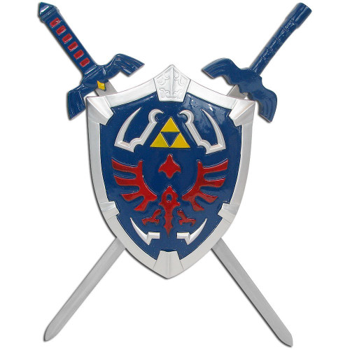 Zelda Hylian Shield & Swords Triforce Wall Mini Display Set