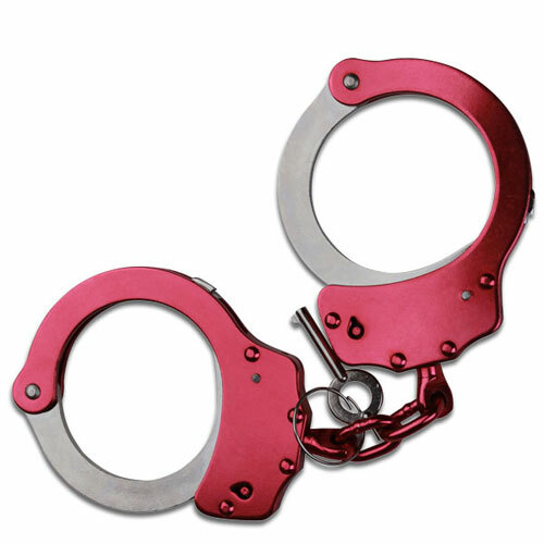 MTech USA Double Lock Handcuffs Metal Construction - Pink Finish