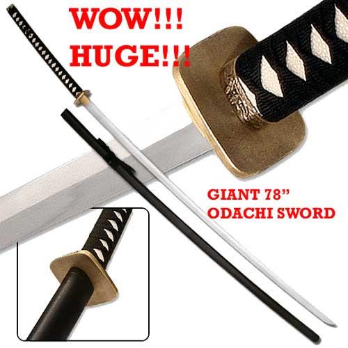 "78"" Odachi Sword Massive Japanese Nodachi Katana - Horse Cutting Sword"