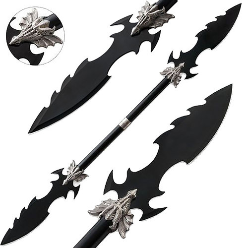 Dueling Dragons Double Blade Fantasy Spear Naginata