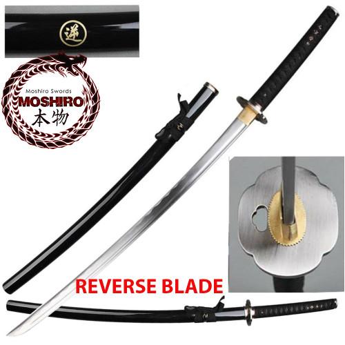MOSHIRO Reverse Blade Katana Full Tang 1