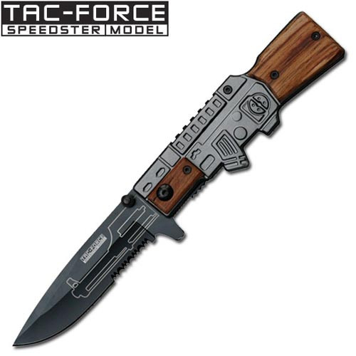 """Police"""" M-16 Style Spring Assist Knife"""