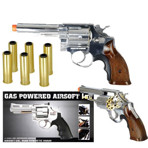 HFC HG-131C Gas Powered Revolver Pistol in Silver