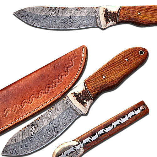 Bolo Knife Full Tang Hardcore Damascus Knife 9.5in