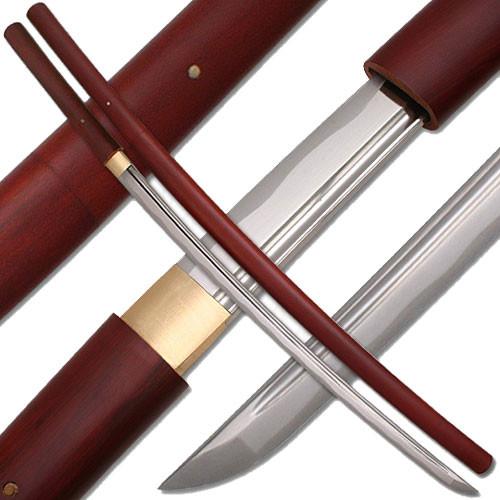 Shirasaya Functional Katana Bushido Rosewood Sword Full Tang Battle Ready
