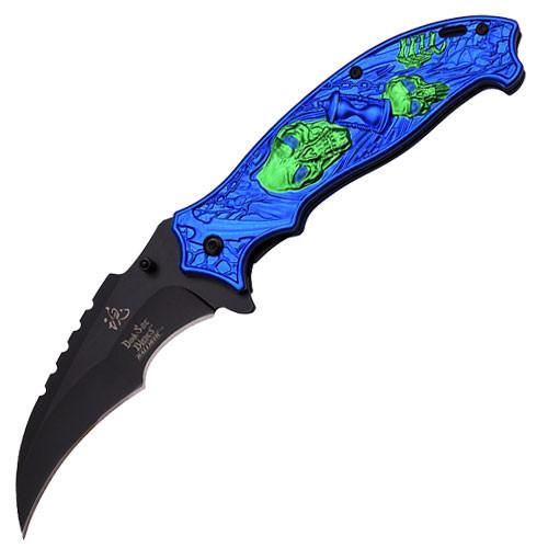 """Dark Side Blades Spring Assisted Fantasy """"Time Reaper"""" V3 Knife"""