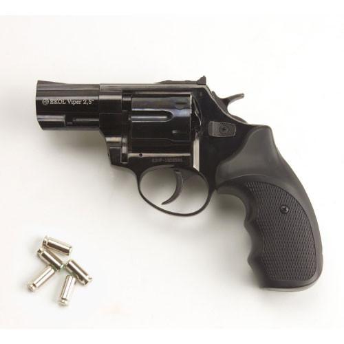 Viper 2.5 Barrel 9mm Blank Firing Revolver Black Finish (CLONE of Taurus 605 .357 magnum)
