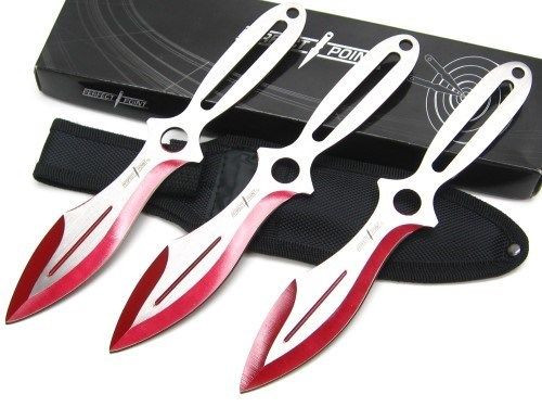 Holy Terror Perfect Point Throwing Knife Set - Red
