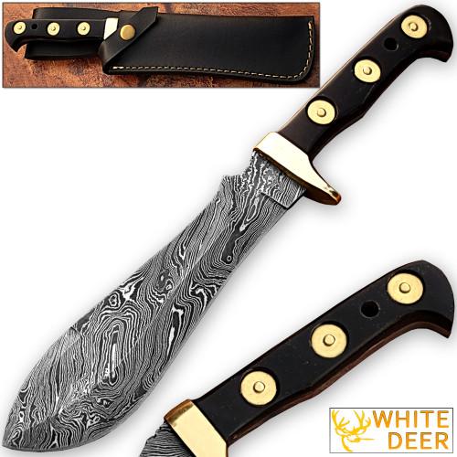 WHITE DEER MAGNUM Damascus Steel Handmade Hunting Knife