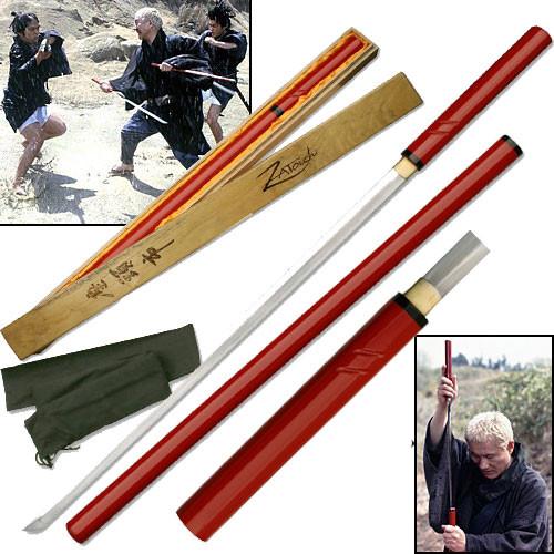 Zatoichi Handmade Nodachi Cane Sword - Blind Samurai