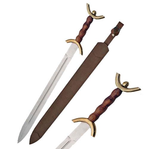Celtic War Sword (Brass Guard)