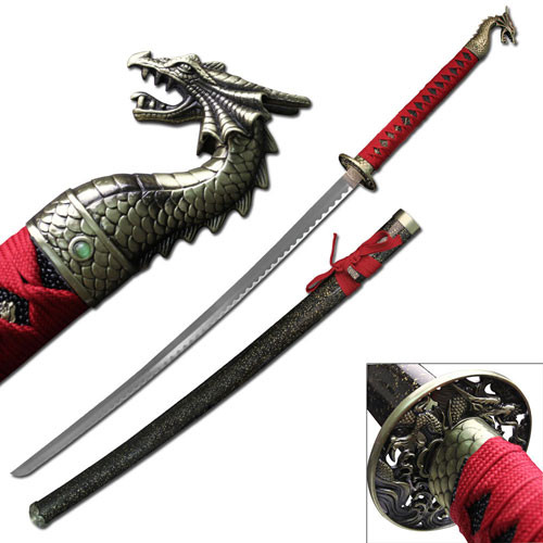 dragon slayer katana Sword Red