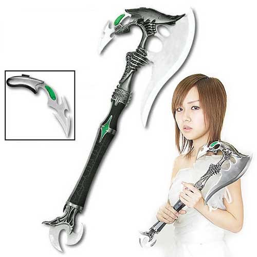 Alien Invader Plasma Battle Axe w/ Dagger