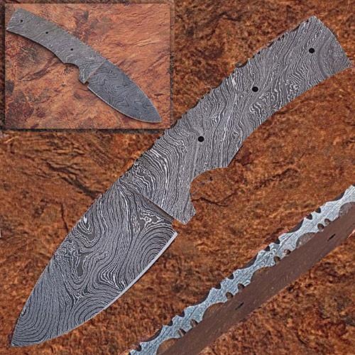 CUSTOM MADE DAMASCUS BLANK BLADE FULL TANG Knife 1