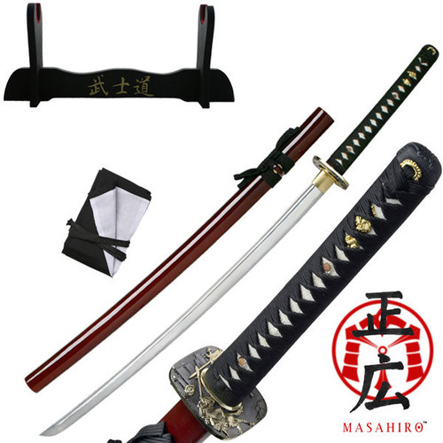 "TENRYU MAZ-019RD HAND FORGED SAMURAI SWORD 40.9"" OVERALL"