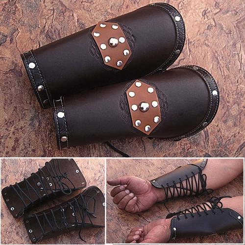 Assassins Guild Dark Leather Bracers