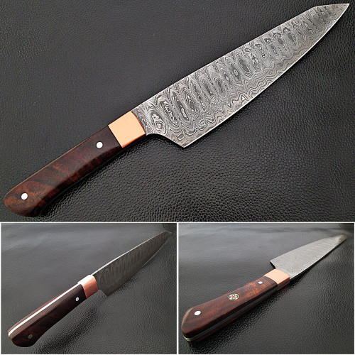 Cocobolo Wood Grip Santoku Forged Chef Knife