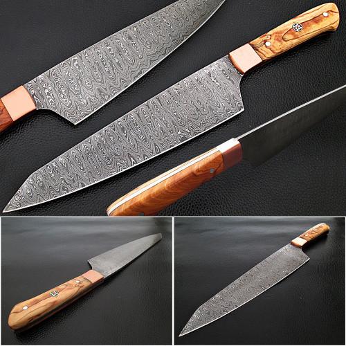 Gyuto Forged Chef Knife Olivewood Handle