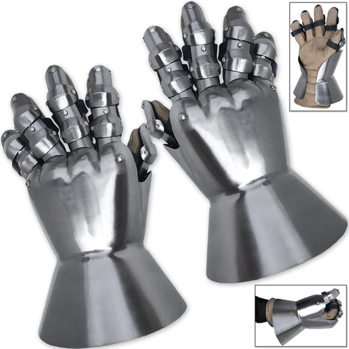 Churberg Hourglass 14th Century Armor Gauntlets