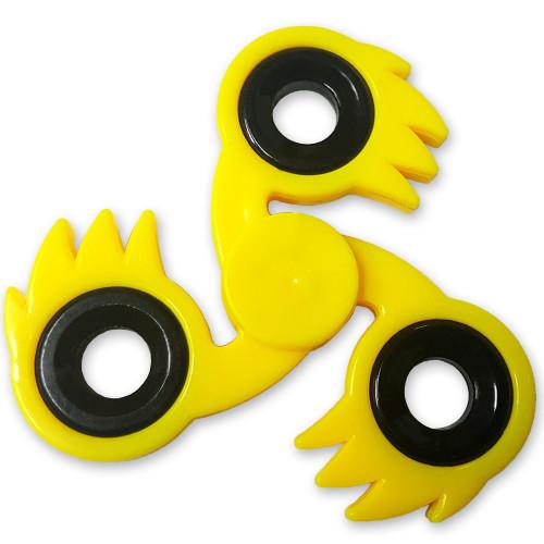 Ki-Blast Spiked Fidget Tri-Spinner Yellow Fireball