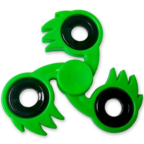 Spikester Fidget Tri-Spinner Green Fireball