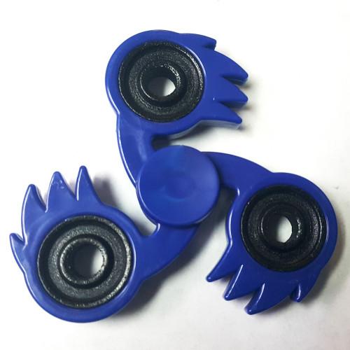 KameHa Wave Fidget Tri-Spike Spinner Blue Fireball