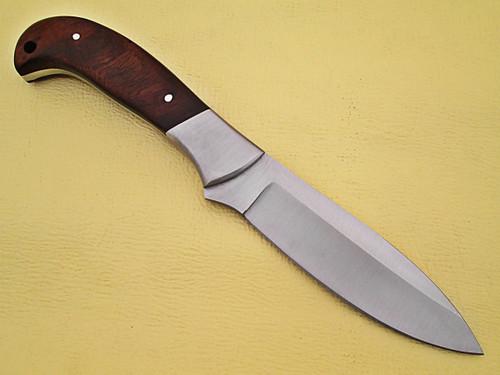 WHITE DEER Full Tang J2 Steel Tactical Knife Operators Hardwood Grip Drop Point