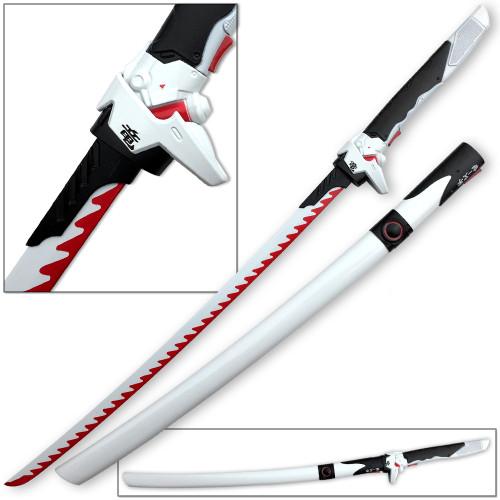 Overwatch Katana Genji Sword WHITE/RED Dragonblade