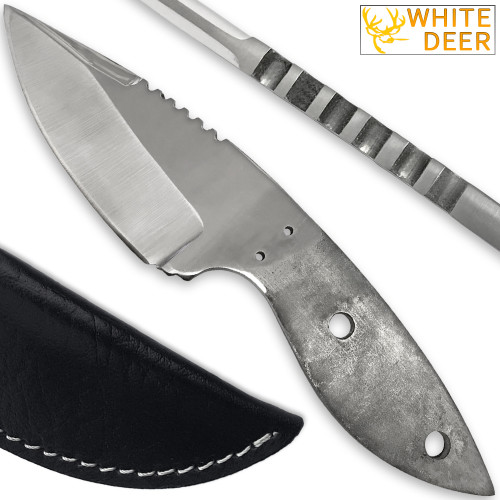 WHITE DEER D2 Steel Knife Blank