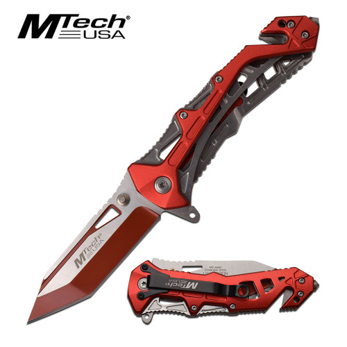 MTECH A/O Hot Red Sporting Knife