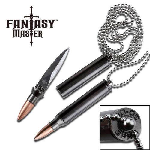 Fantasy Master 30-06 Bullet Replica Neck Knife