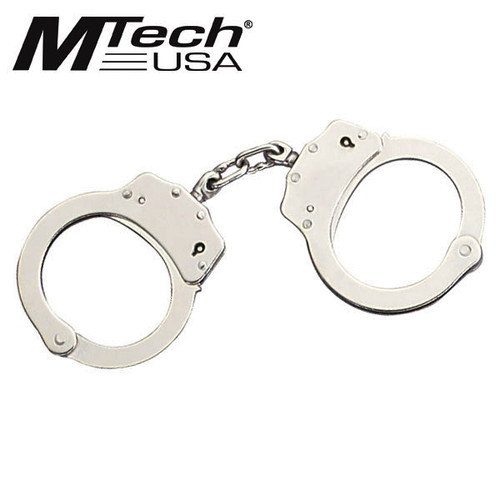 MTech USA Chrome Plated Double Lock Handcuffs
