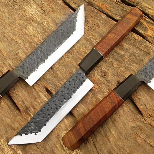 Hand Forge 1095 Forged Steel Usuba Bocho Knife Kanto Japanese Chef Knife