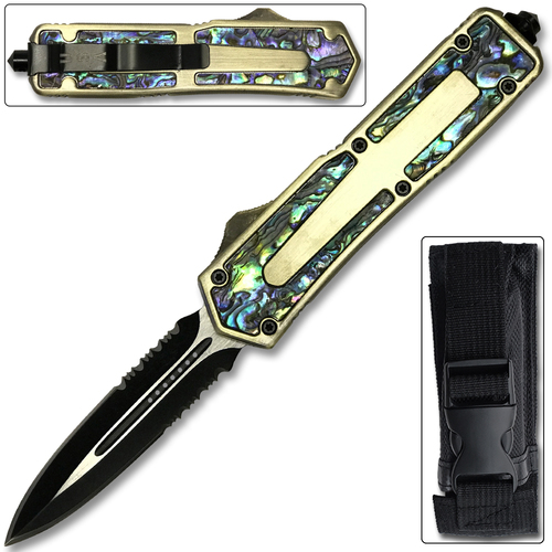 OTF Titan Originator Gold Serrated Knife