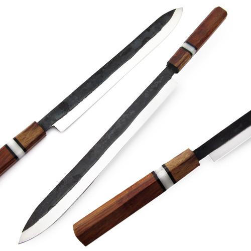 "Japanese Shape 17.5"" Forging Hammer TANTO Kitchen Chef Knife"