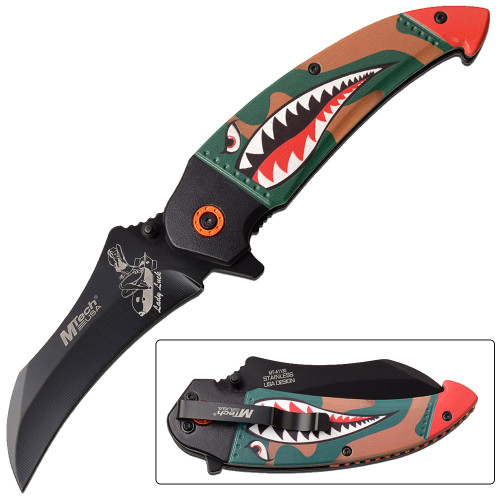 Native American Style Spring Assisted Knife