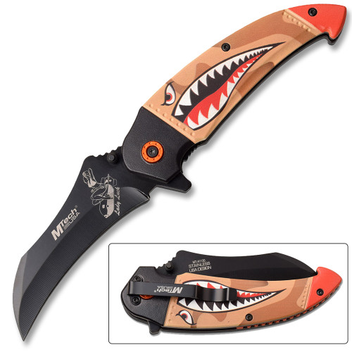 Native American Style Spring Assisted Knife Limited Addiction