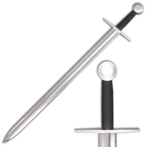 "40 "" Medieval Sword Metallic Chrome Blade Spark Foam Irish Ring Sword"