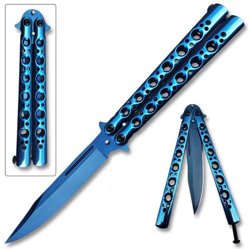 Swift Blue Balisong  Butterfly Knife