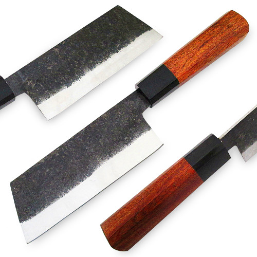 WHITE DEER 1095 Forged Steel Usuba Bocho Knife Kanto Japanese Chef Cleaver