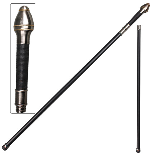 Medieval Walking Cane Staff Steel Shaft Stick Personal