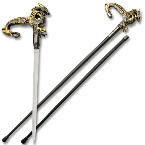Elegant Dragon Wild Fighting Walking Cane Sword