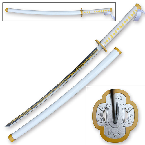 "Blazing S. 41"" Metal Samurai Sword Replica Demon Slayer Kaiga Ku"