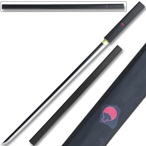 Hand Made Black Sasuke Grass Cutter Steel Ninja Sword Katana Cosplay Straitblade