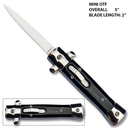 Mini OTF Italian Milano Knife Black Handle Limited Edition